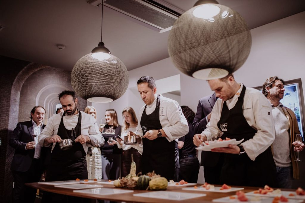 Showcooking & Wine Tasting otoñal by Romero en In Studio Siematic Barcelona