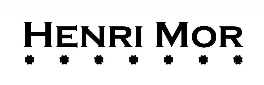 Logotipo Henri Mor vectorizado negro fondo blanco