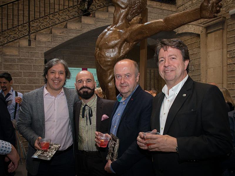 Jorge Egea presenta la escultura 'Expansión' en el Reial Cercle Artístic
