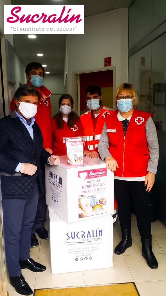 Sucralin dona producto a 30 residencias de personas mayores en Terrassa